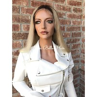"""Natural Blond Full Lace Wig 22"""""""