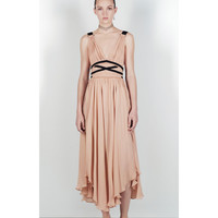 STUDIO DRESS WITH CONTRASTING RIBBONS DETAILS