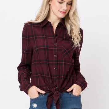 The Miranda shirt ( burgundy)