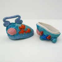 Rock container tropical fish motif