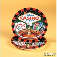 """""""casino"""" party tableware Case of 440"""