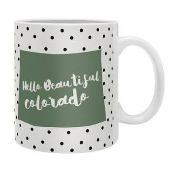 Allyson Johnson Hello Beautiful Colorado Coffee Mug