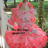 National Glitz Pageant Dress Custom Order by Nana Marie Designs