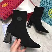 TORY BURCH Elastic knitted boots