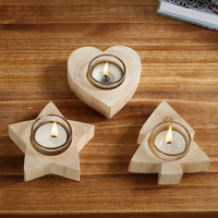 Wooden Candle Holder Wedding Home Decor Candlesticks Lover Romantic Vindicate Candlelight Dinner Props