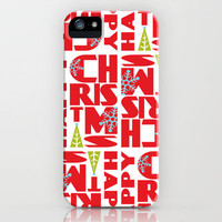 Happy Christmas iPhone Case by Heather Dutton | Society6