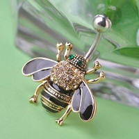 Bumble Bee Navel Belly Button ring