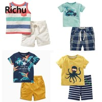 children boy set clothes summer tracksuit thanksgiving outfit toddler boys clothing suits sport christmas 2pcs casual sale 3 4yr