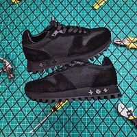 Louis Vuitton Lv Runner Sneaker Suede Calf Leather And Textile Black