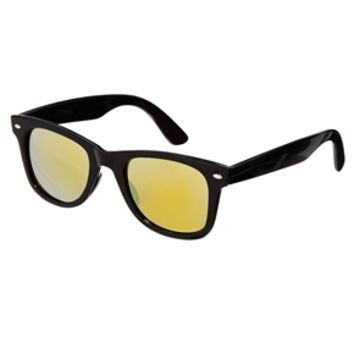 ASOS Wayfarer Sunglasses with Yellow Mirror Lens - Black