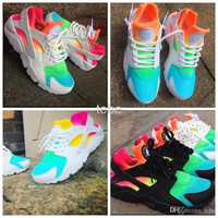 2016 New Huarache Running Shoes Huaraches Rainbow Ultra Breathe Shoes Men & Women Huaraches Multicolor Sneakers Air Size 36-46 Free Shipping