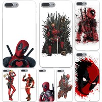 Hot Selling Super Cool Hero Deadpool Hard Case Shell for Apple iPhone 6 6s 7 8 Plus 4 4S 5 5S SE 5C for iPhone XS Max XR Cases