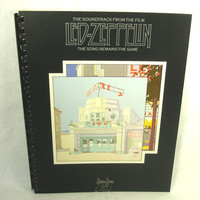 "LED ZEPPELIN Notebook - Recycled Record Album Cover - ""The Song Remains The Same"" (1976)"