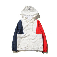 PALACE Windbreaker Zippers Patchwork Hats Unisex Jacket [9588193351]