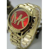 MICHAEL KORS fashion trendy men and women tide brand quartz watch F-YF-GZYFBY Red