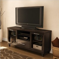 South Shore Adrian Collection TV Stand, Hazy Brown