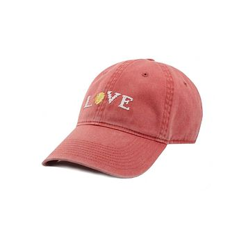 Love All Needlepoint Hat in Nantucket Red by Smathers & Branson