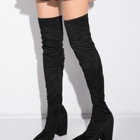 Jeffrey Campbell Surely Suede Over The Knee Boots