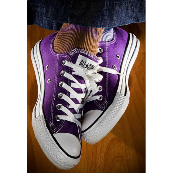 """Image of """"Converse"""" Fashion Canvas Flats Sneakers Sport Shoes Purple"""