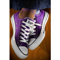 """Converse"" Fashion Canvas Flats Sneakers Sport Shoes Purple"
