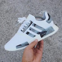 Adidas NMD Women Men Casual Running Sport Shoes Sneakers - Camouflage White Tagre™