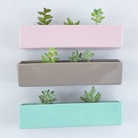 Ceramic Wall Brick Planter