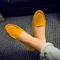 Spring Summer Women Flats Casual Shoes Women Solid Slip-On Loafers Comfortable Moccasins Shoes Flats Colorful Female Shoes ADT81