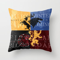 Game of Thrones Throw Pillow by Rose's Creation