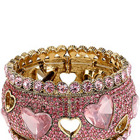 BetseyJohnson.com - ICONIC PINKALIOUS HEART WIDE BANGLE FUSCHIA