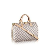 DCCKL1A Louis Vuitton Damier Azur Canvas Speedy Bandouliere 30 N41373  Louis Vuitton Handbag