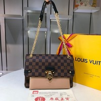 LV Louis Vuitton WOMEN'S DAMIER EBENE CANVAS SAINT PLACIDE INCLINED SHOULDER BAG