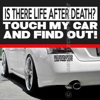 Life After Death Funny Sticker Vinyl Decal JDM Decal Turbo Dope fit Honda Acura