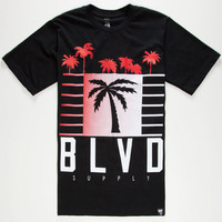 Blvd My City Mens T-Shirt Black  In Sizes
