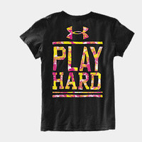 Girls' UA Play Hard Graphic T-Shirt | 1236135 | Under Armour US
