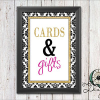 Single Image digital download Event Signs Black Gold and Pink Wedding Birthday Baby Shower Party Decor Party Supply Cards and Gifts