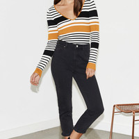 Kendall & Kylie Double V-Neck Fitted Sweater Top at PacSun.com