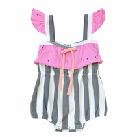 Willa Romper Bermuda Stripe