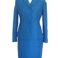 LE SUIT Tweed 2PC Jacket/Skirt Suit