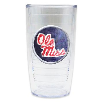 Ole Miss Needlepoint Tumbler by Smathers & Branson