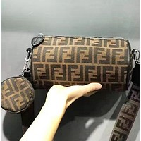 Fendi Fashion New More Letter Retro Women Men Leisure Shoulder Bag