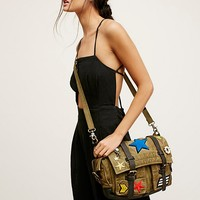 Free People Washed Military Messenger