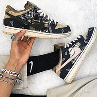 Travis Scott x Nike SB Dunk Low Hot Sale Men Women Casual Sport Running Shoes Sneakers