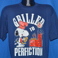 80s Snoopy Grilled to Perfection #1 Dad t-shirt Large