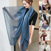 Fashion Winter Autumn Women Vintage Long Cozy Scarf Wrap Shawl Khaki /Navy blue / gray pink /wine red /denim blue / army green-in Scarves from Women's Clothing & Accessories on Aliexpress.com | Alibaba Group