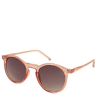 Lila Crystal Round Sunglasses - Coral