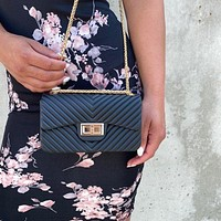On The Go Black Clutch Handbag