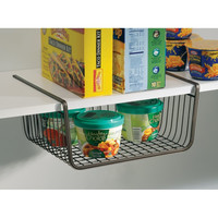 York Storage Bin, Under Shelf Basket, Bronze