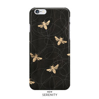 Rose Gold BusyBee iPhone Case, iPhone 6, iPhone 6 Plus, iPhone 5/5s, BusyBee Samsung Galaxy, Faux Rose Gold, Bee Pattern, NewSerenityStudio