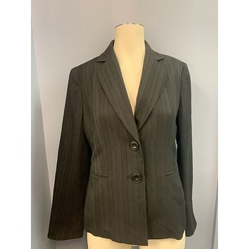 Le Suit Womens Textured Office Two-Button Blazer
