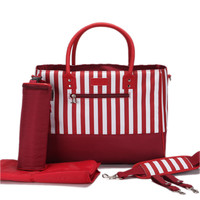 Kerrigan Striped Diaper Bag by Baby in Motion